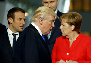 ائتلاف مرکل و مکرون برای مقابله با ترامپ