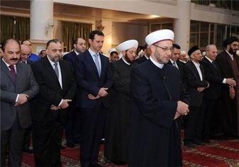 نماز عید قربان اسد در دمشق + عکس