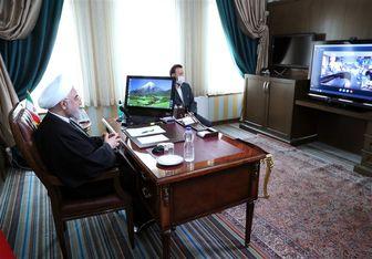 گفتوگوی ویدیو کنفرانسی رئیس جمهور با پرسنل بیمارستان امام خمینی (ره)