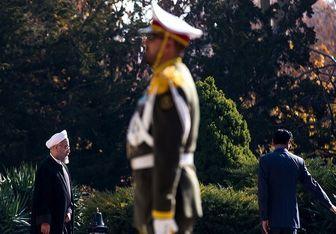 استقبال رسمی از روحانی در کاخ قزاقستان