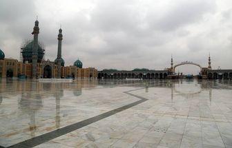 حال و هوای بارانی «مسجد جمکران»/ تصاویر