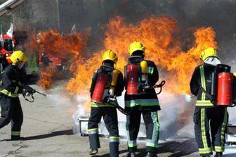 آتشسوزی انبار جعبه در جنوب تهران