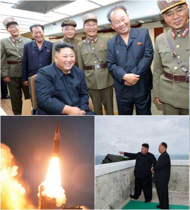 نظارت شخصی کیم جونگ اون بر آزمایش موشکی جدید کرهشمالی + تصویر