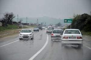 بارش باران و بسته شدن محور ارتباطی گرگان به کردکوی