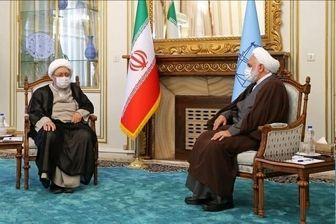 آیتالله صادق آملی لاریجانی با رئیس قوه قضائیه دیدار کرد