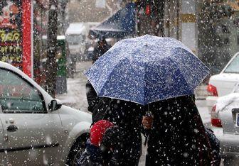 بارش متناوب برف، باران و یخبندان در پایتخت
