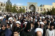 تجمع بزرگ حوزویان در اعتراض به سرکوب مردم مظلوم بحرین+ تصاویر