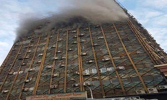 آتشسوزی در ساختمان پلاسکو تهران + فیلم