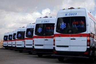 استقرار ۳۰ دستگاه آمبولانس در مسیر راهپیمایی اربعین