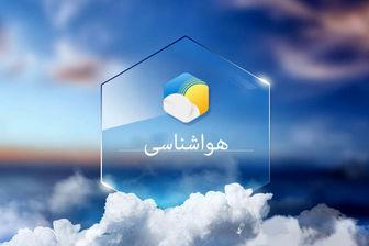 وضعیت آب و هوا در ۲۸ دی ماه/ بارشهای پراکنده باران در تهران