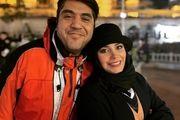 خانم مجری و همسرش در جمعی دوستانه /عکس