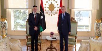 دیدار رئیس دولت وفاق لیبی با اردوغان