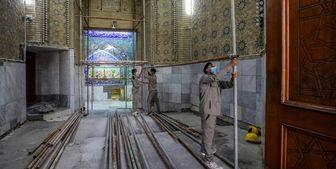 آغاز بازسازی ورودیهای حرم حضرت عباس (ع)+عکس