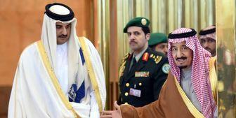 پیام شاه سعودی به امیر قطر ابلاغ شد