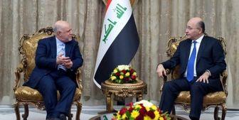 دیدار و گفتوگوی رئیسجمهور عراق و سفیر ایران در بغداد