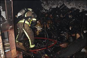 آتش سوزی در فروشگاه لوازم خانگی