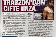 بازتاب انتقال امیری در روزنامه ترک