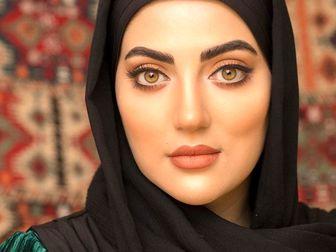 تیپ خاص و زیبای هلیا امامی زیر باران /عکس