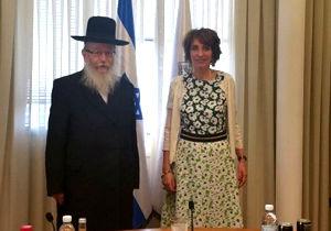 جنجال دست ندادن وزیر اسرائیلی با وزیر زن فرانسوی