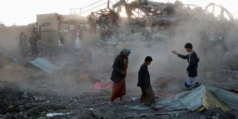 بمباران یک مجتمع دولتی در صعده یمن