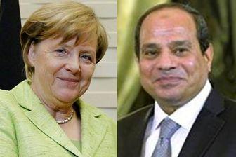 گفتوگوی مرکل و السیسی