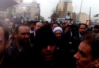حضور رئیس قوه قضائیه در راهپیمایی ۲۲ بهمن