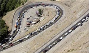 ترافیک نیمه سنگین در محور هراز