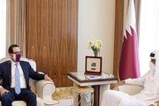 دیدار وزیر خرانهداری آمریکا با امیر قطر
