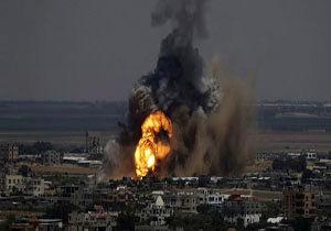 بمباران غزه توسط جنگنده های صهیونیستی