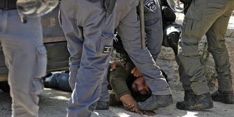 تعرض نظامیان صهیونیست به شهروندان فلسطینی در قدس