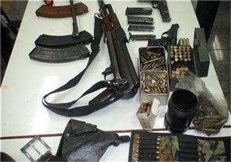 کشف و ضبط ۴ قبضه سلاح غیر مجاز