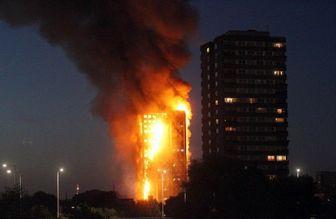 آتشسوزی در برجی مسلماننشین در لندن+تصاویر