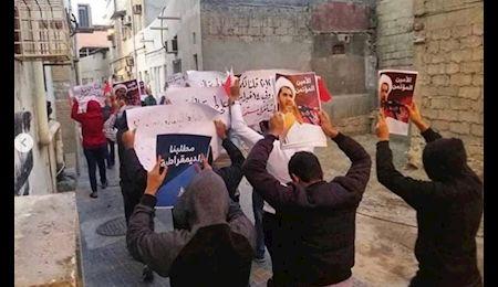 تظاهرات مردم بحرین در نهمین سالروز انقلاب ۱۴ فوریه+ تصاویر
