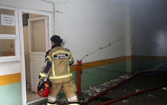 آخرین روند عملیات اطفای حریق در ساختمان برق حرارتی