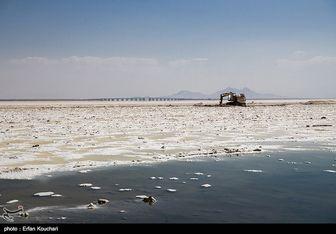 وسعت دریاچه ارومیه بیشتر شد