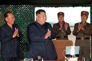 آزمایش سلاح جدید کره شمالی در حضور کیم