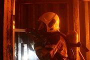 آتشسوزی یک ساختمان در خیابان آزادی