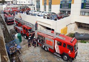 آتشسوزی در بیمارستانی در استانبول