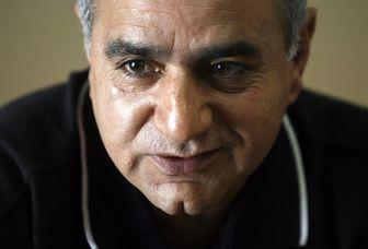 عکس زیرخاکی از پرویز پرستویی در پشت صحنه سریال «امام علی(ع)»