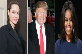 آنجلینا جولی و میشل اوباما رقیب ترامپ می شوند