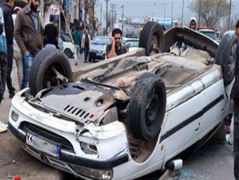 خواب آلودگی راننده حادثه آفرید