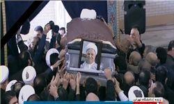 پیکر آیتالله هاشمی رفسنجانی در کنار امام آرام گرفت