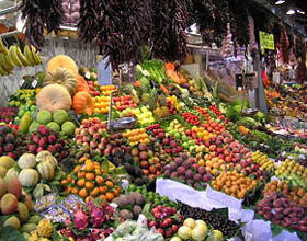 نرخ لیمو و انواع میوه ها در میدان میوه و تره بار تهران